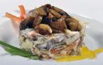 Салат с шампиньонами и языком – рецепты с фото