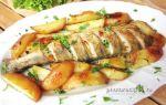 Судак с картошкой в духовке, рецепт с фото