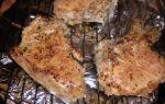 Стейки из свинины на решетке рецепт с фото