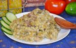 Перловая каша с тушенкой рецепт с фото