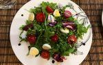 Салат с перепелиными яйцами и овощами рецепт с фото