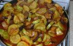 Тушеные овощи с баклажанами и кабачками, рецепт с фото