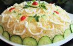 Салат «курочка ряба» с курицей и грибами рецепт с фото