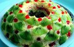 Салат «изумрудный браслет» из киви – рецепт с фото пошагово