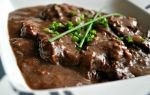 Тушеное мясо с черносливом рецепт с фото